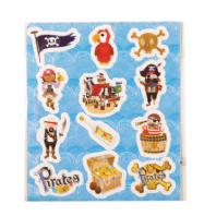 Sheet of pirate stickers (Code 3556)